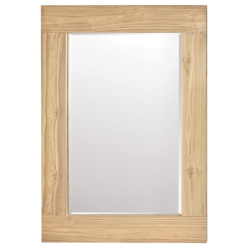 atelier scandinave miroir avec cadre en bois de teck recycl miroirs d cor mural magasinez. Black Bedroom Furniture Sets. Home Design Ideas