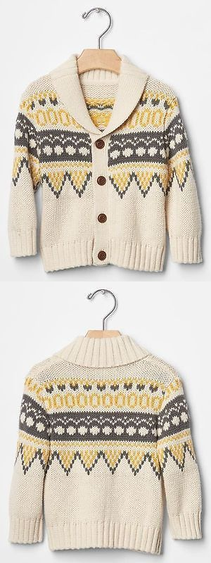 Sweaters 147338: Gap Baby Boys Size 3-6 Months Nwt Ivory Yellow ...