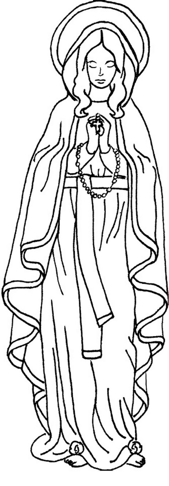 Blessed Mary Coloring Pages Designs Canvas