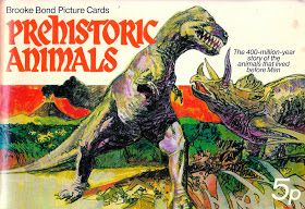 Love in the Time of Chasmosaurs: Vintage Dinosaur Art: Prehistoric Animals (Brooke Bond Picture Cards) #prehistoricanimals