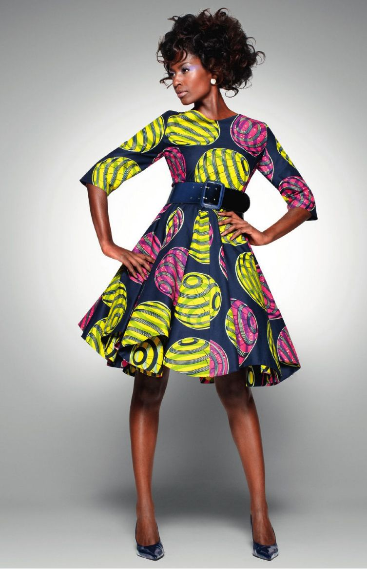 Vlisco :: Delicate Shades dress