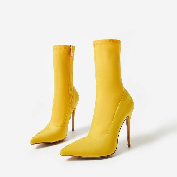 Yellow Knee High Boots