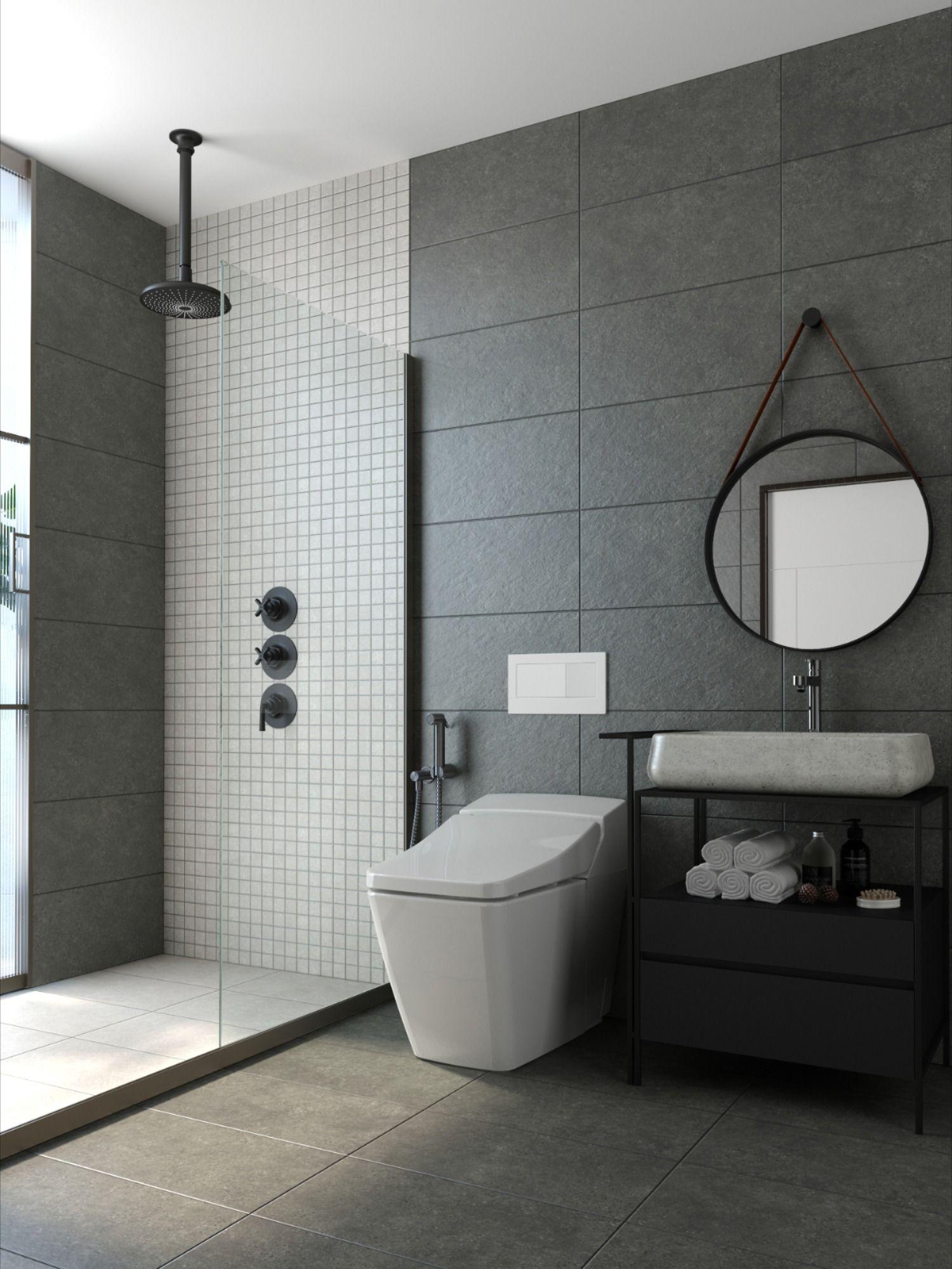 Fused Bathroom Matching Gray Bathroom Decor Washroom Tiles Design Porcelain Tile Bathroom Modern gray bathroom decor