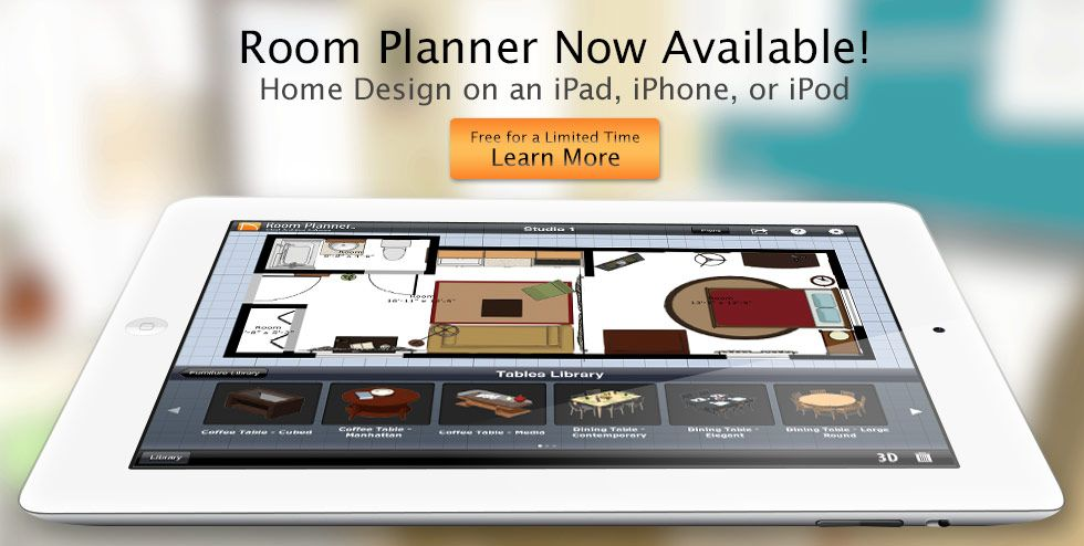 I used the Room Planner app from Chief Architect on my