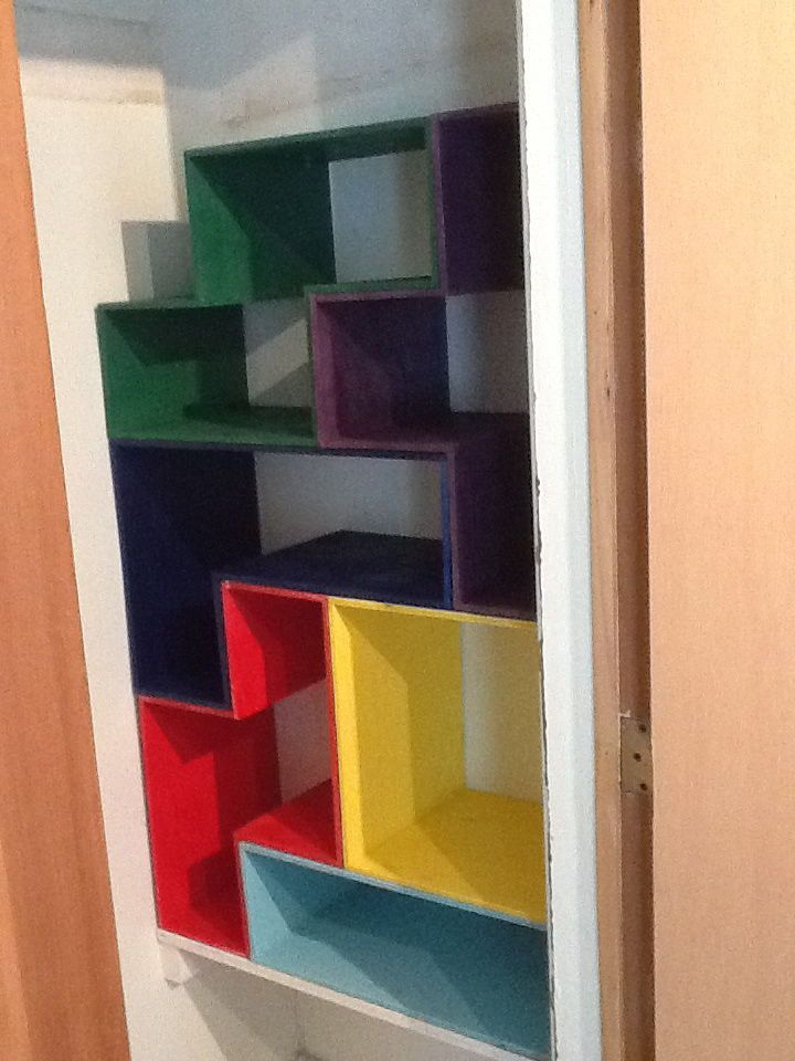 Game Closet Like Tetris. Great Way To Store Odd Shaped Board Games.