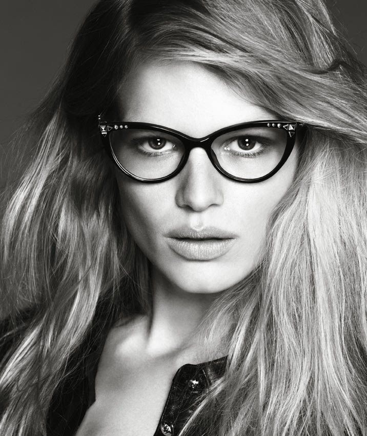 4e8f46afc679 Versace Eyewear SS 2014  Anna Ewers by Patrick Dermachelier