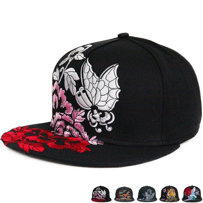 R&S Japan High Detailed Quality Embroidery Flat Bill Snapback Hats PY020