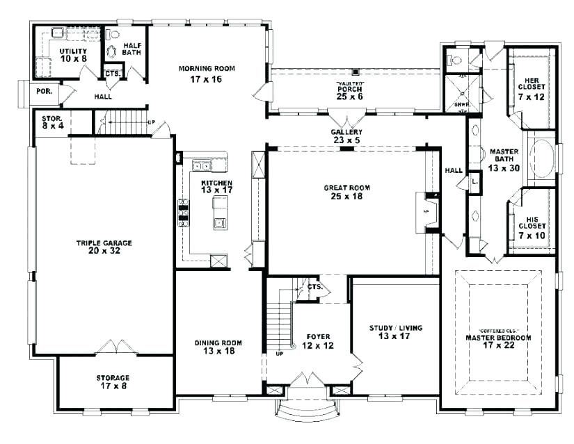 Plans For 3 Bedroom Houses Four Bedroom House Plans 3 Bedroom 2 Bath House 4 Bedroom House Pl Open Floor House Plans 4 Bedroom House Designs Unique Floor Plans