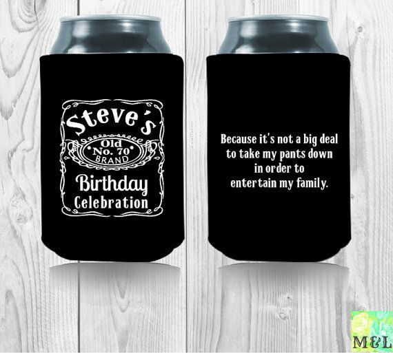 30th Birthday Koozies personalized lot of 50 custom can party ...