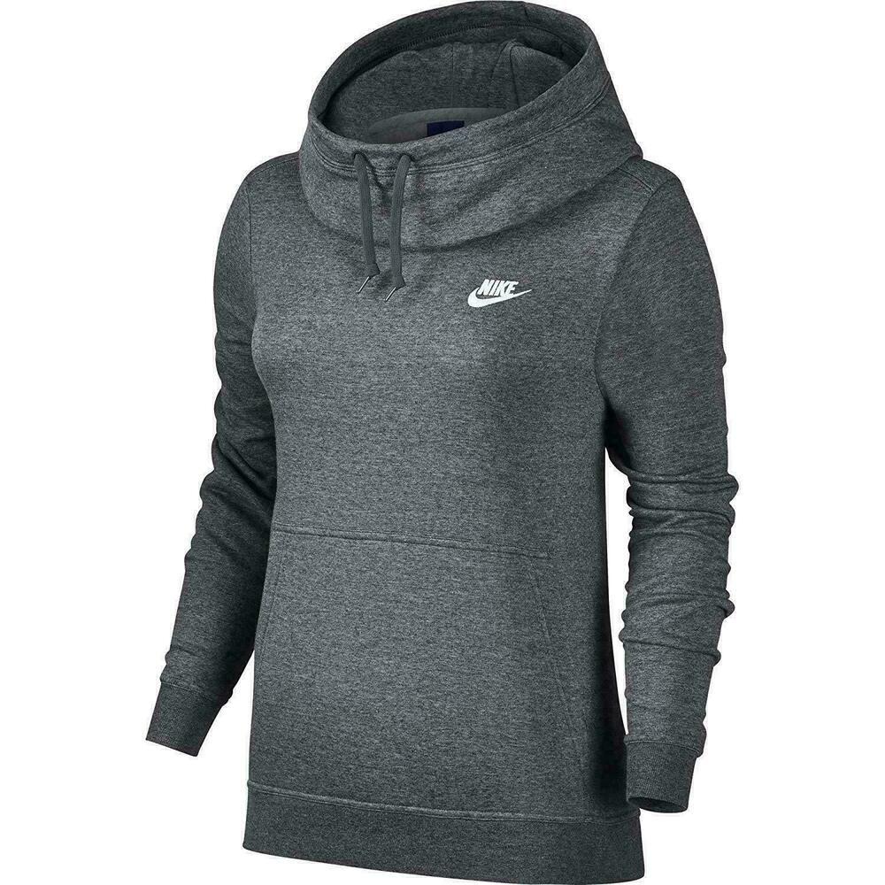 Nike Funnel Neck Women Logo Fleece Pullover Hoodie Plus Size 1x Gray Nike Hoodie Women Hoodies Sweatshirts Nike Long Sleeve Hoodies Womens [ 1000 x 1000 Pixel ]