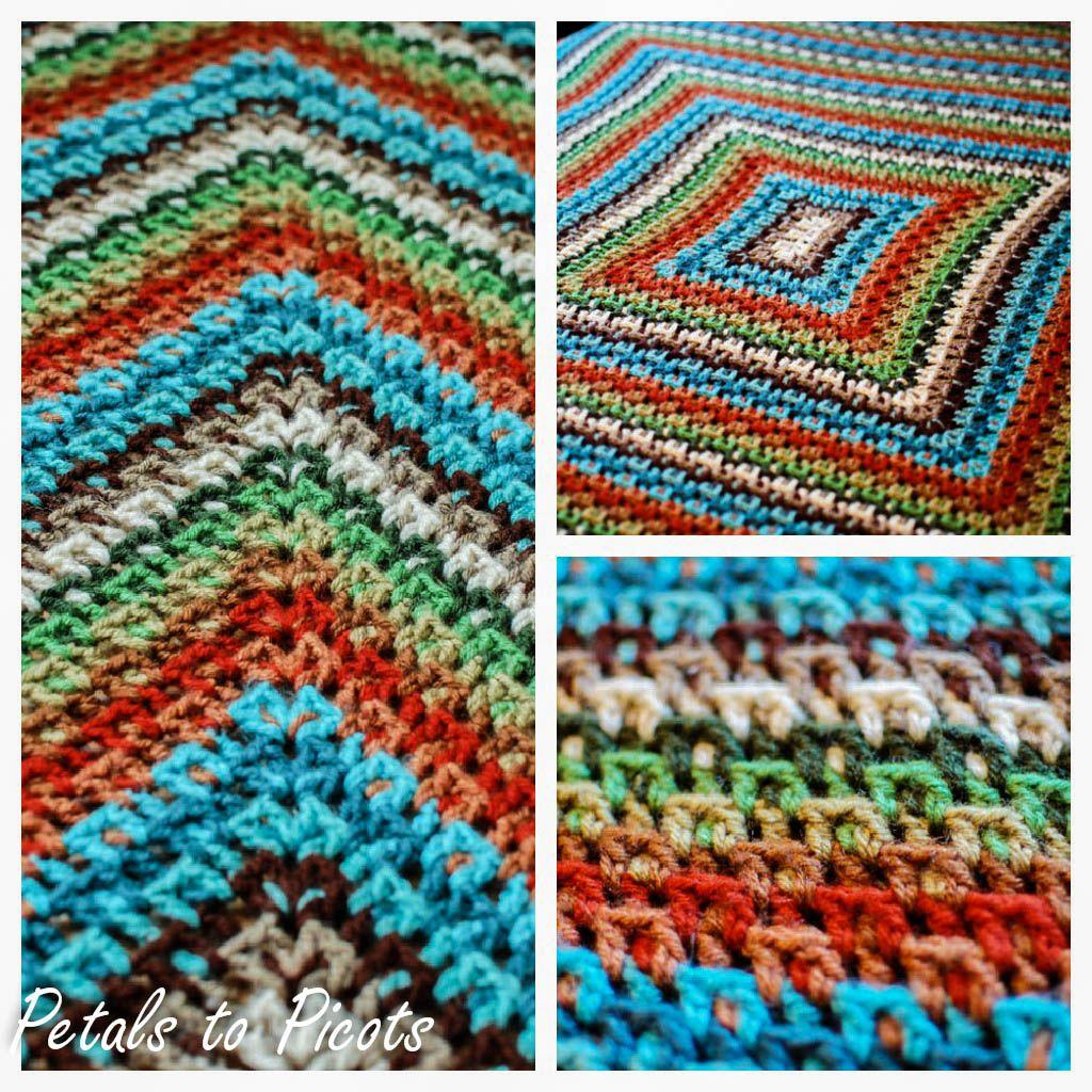 Crochet Kaleidoscope Afghan Pattern   Afghan patterns, Afghans and ...