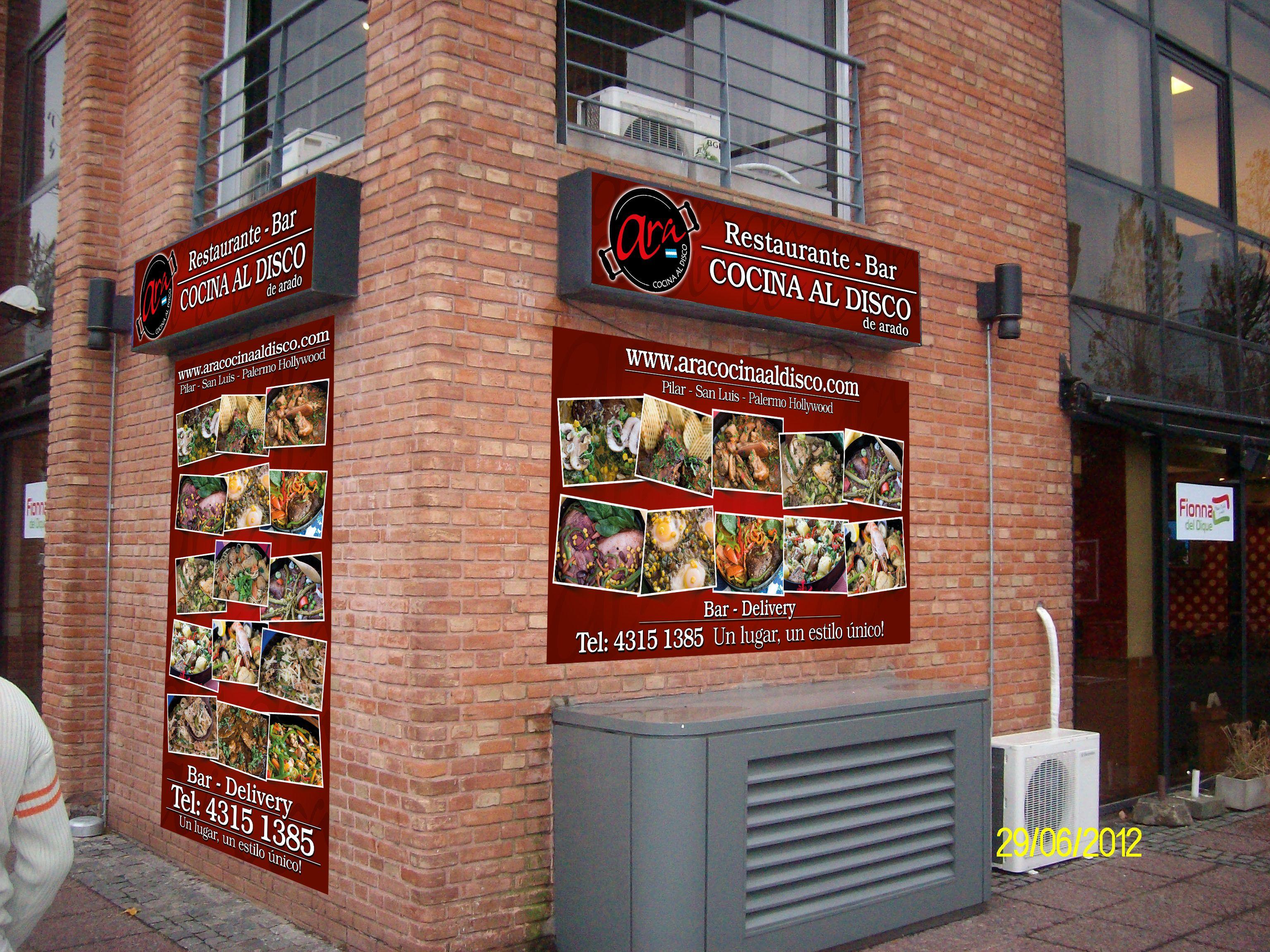 Montaje digital de la cartelería de la esquina para local ubicado en Puerto Madero