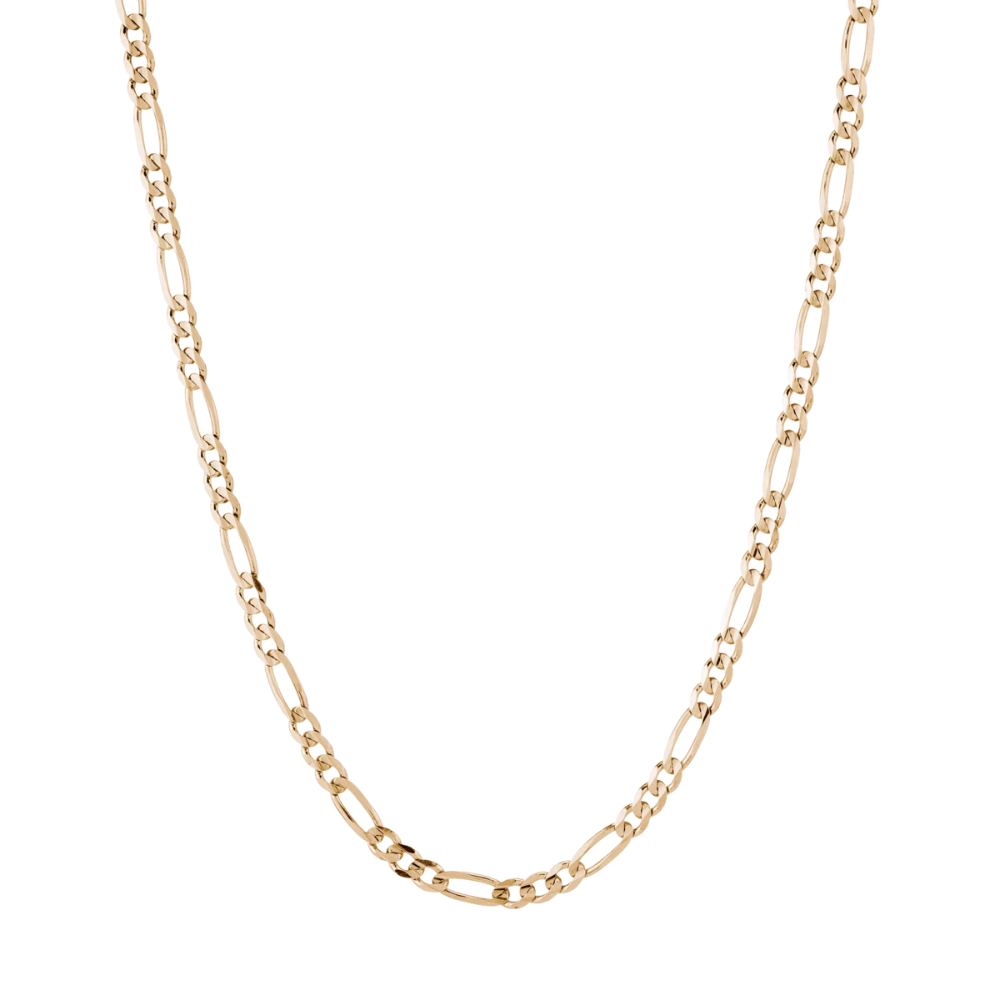 Large Gold Figaro Chain Necklace Figaro Chain Necklace Gold Chain Design 18k Gold Chain Necklace
