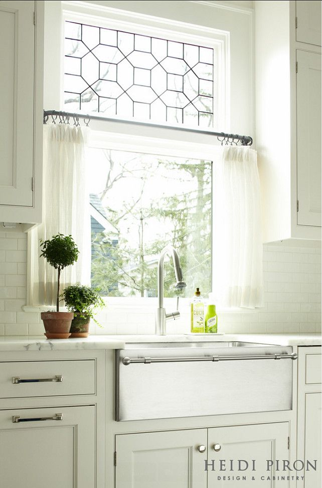 Transitional White Kitchen Via Bloglovin Curtains Farmhouse