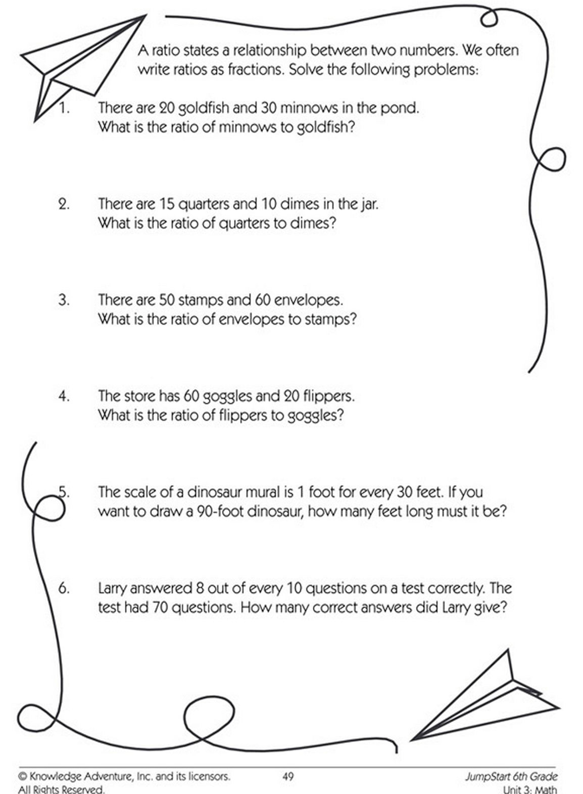 Ratio Worksheet Mystery Math   Printable Worksheets and Activities for  Teachers [ 1572 x 1154 Pixel ]