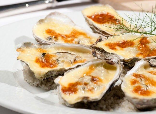 Huîtres gratinées au camembert   Recette   Recette ...