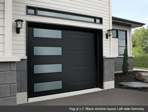 Garaga Garage Door Vog 9 X 7 Black Window Layout Left Side Harmony Garage Door Design Contemporary Garage Doors Garage Doors