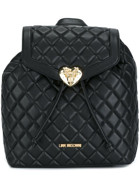 46de7e6732 LOVE MOSCHINO quilted backpack. #lovemoschino #bags #backpacks ...