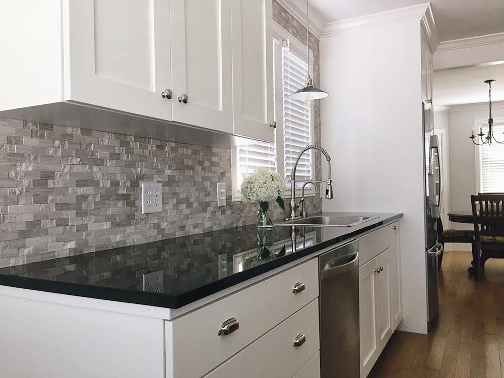 BuildDirect - Granite Countertops - Black Galaxy - Kitchen ... on Backsplash Black Granite Countertops  id=62481