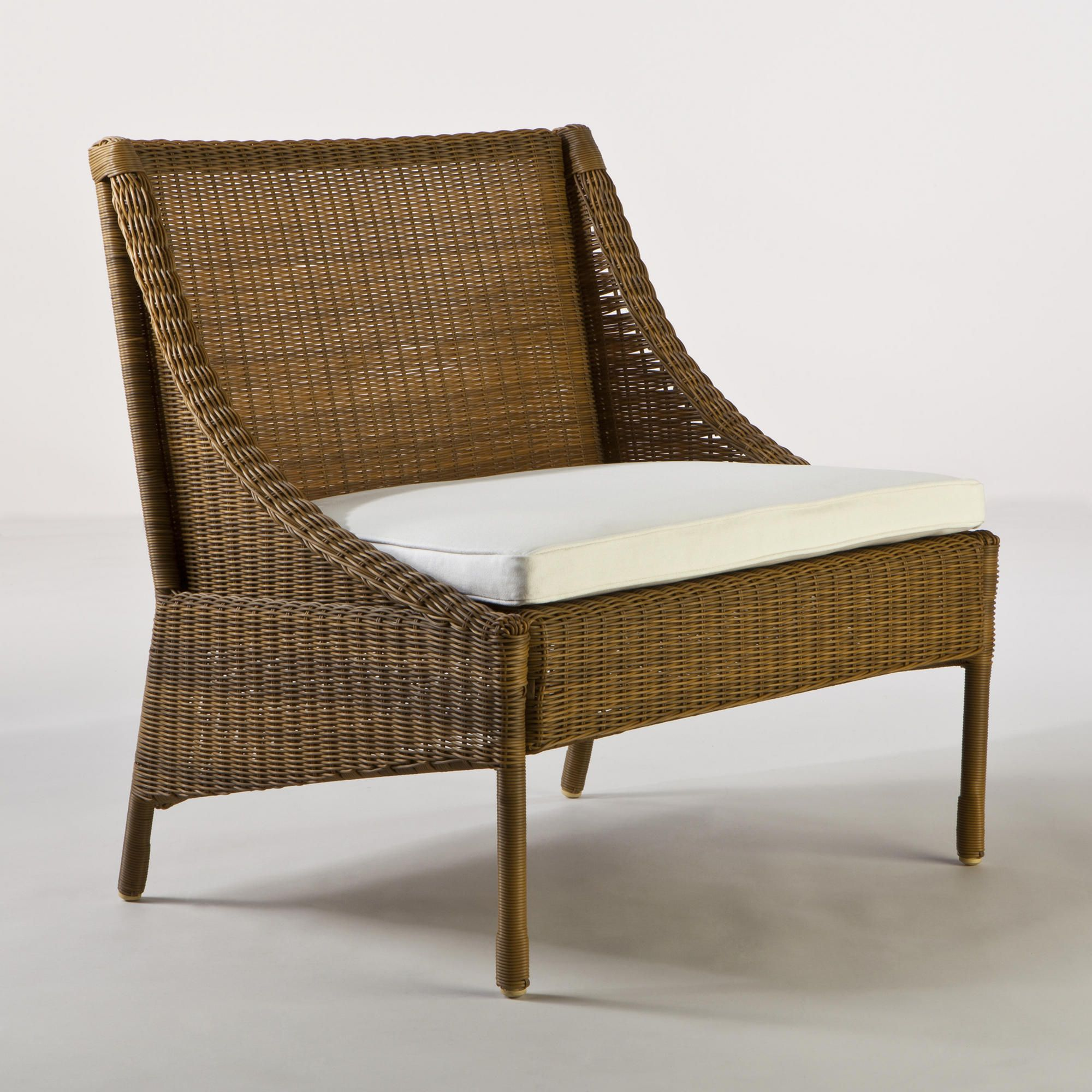 Bon Catalina Honey All Weather Wicker Slipper Chair | World Market For Back  Patio