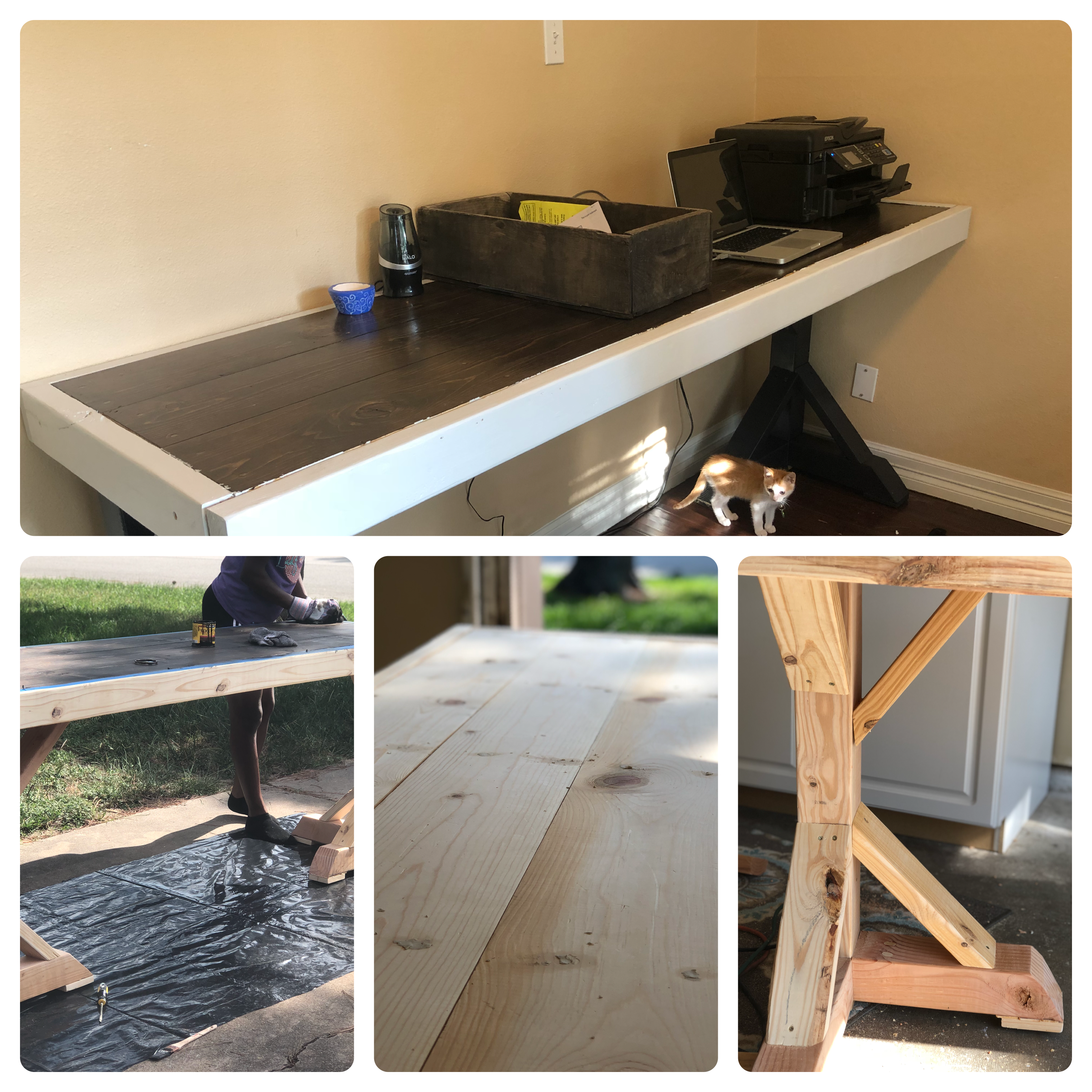 Diy Drafting Height Desk Table Created This With 1X8, 2X4,