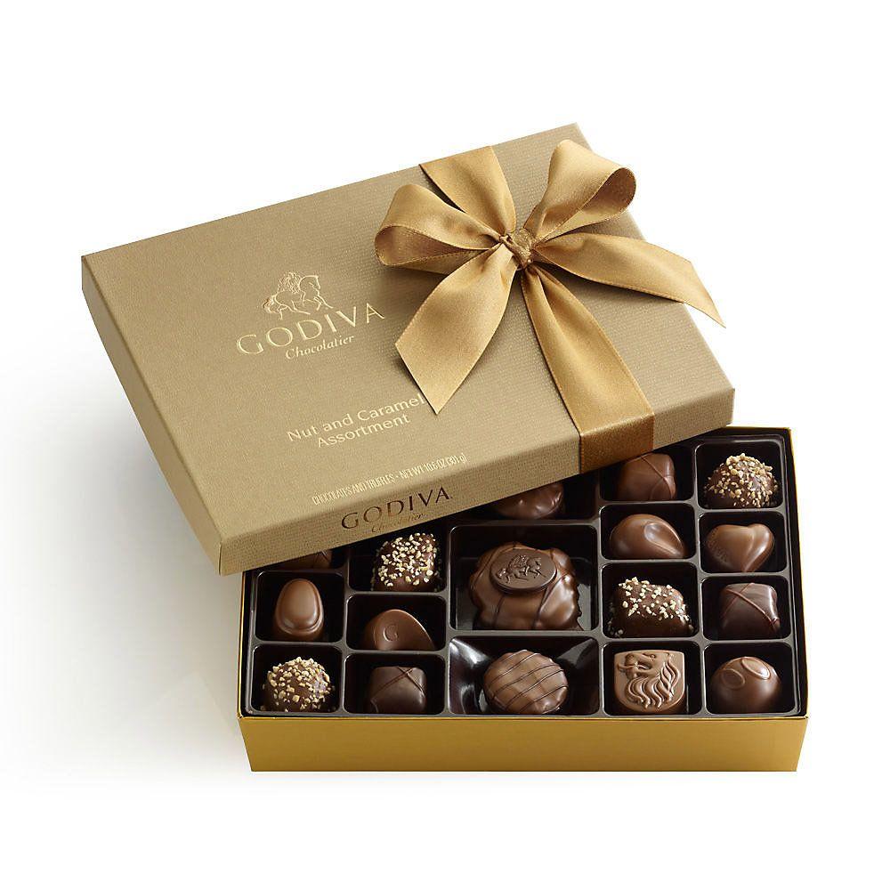 Godiva 19pc Nut Caramel Chocolate Assortment Caramel Gifts Godiva Chocolatier Chocolate Assortment