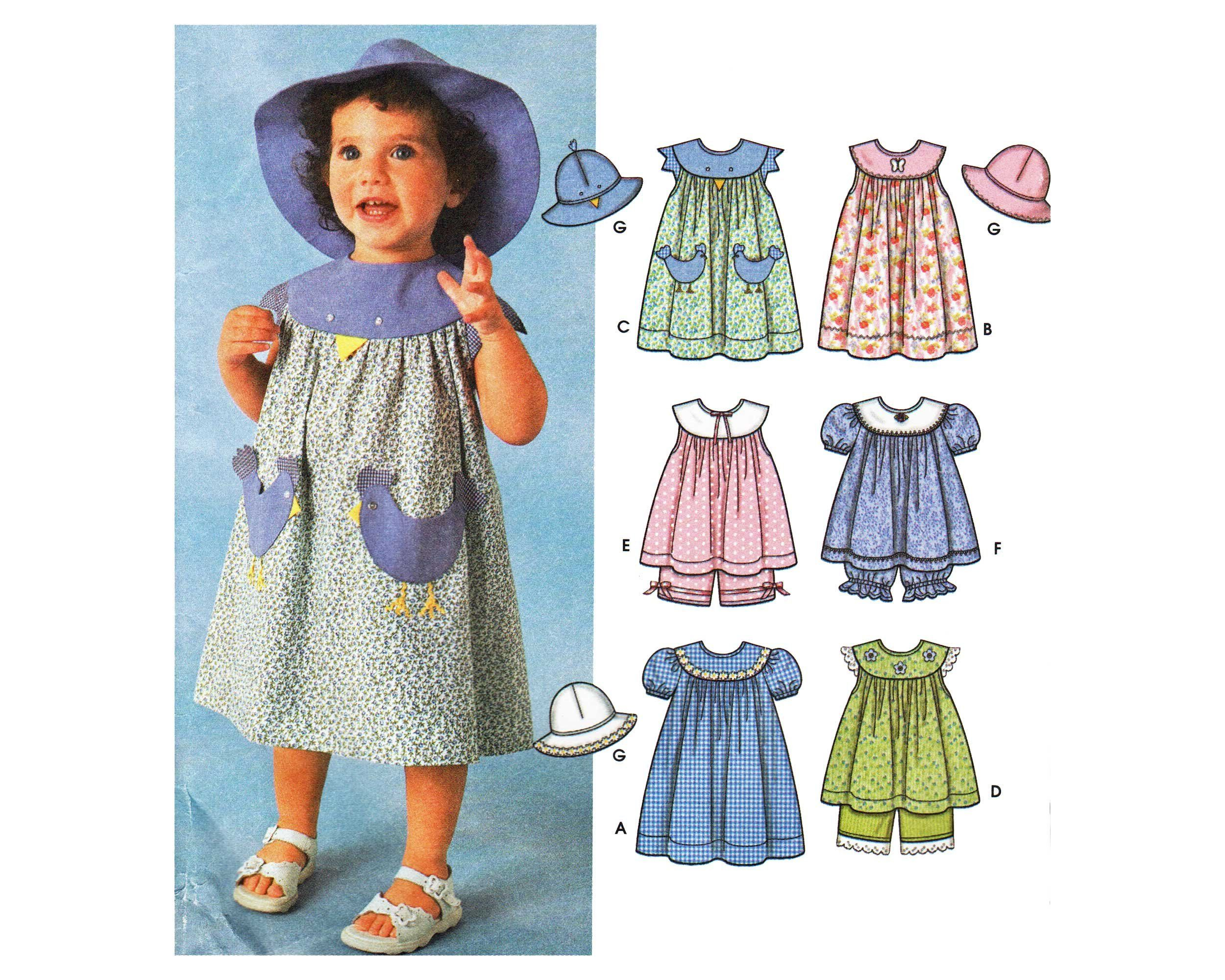 Toddler dress pattern girls country dress bloomer pants and sun hat