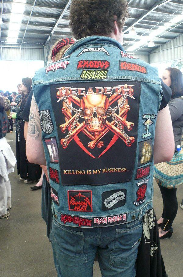 heavy metal vest Google Search Denim jacket patches