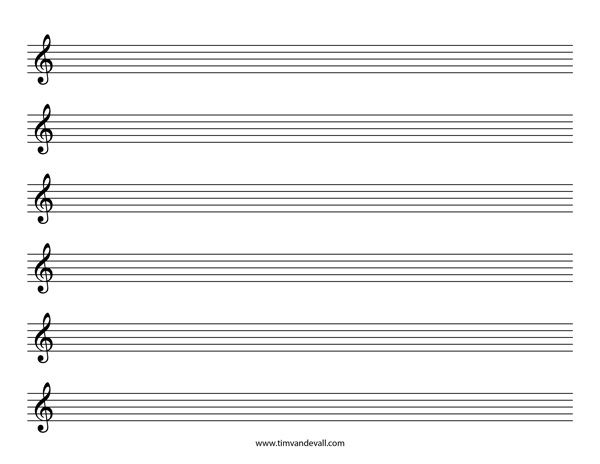 Blank Sheet Music Treble Clef Staff With Images Sheet Music