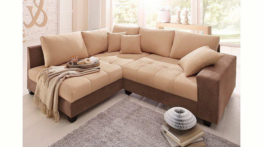 Quelle Sofa home affaire polsterecke greenwich wahlweise mit bettfunktion