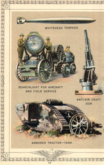 WWI: Armored Vehicles, Equipment, and Weapons.