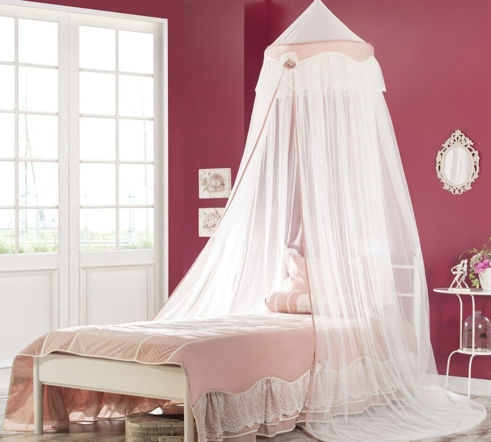 Baldachin Kinderbett Romantic Weiss Betthimmel Kinderbett