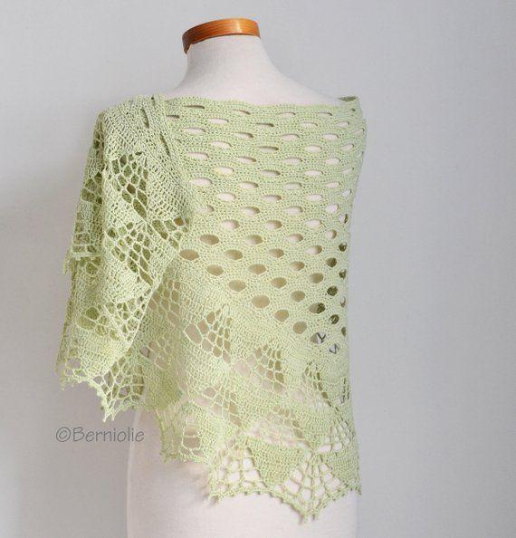 OLIVIA, Crochet shawl pattern pdf en 2018 | Tejidos bonitos ...