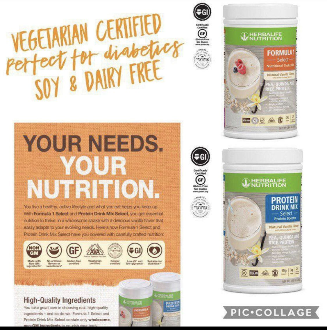New Products Soy Vegetarian And Gluten Free F1 Formulas Herbalife Nutrition Nutrition Blog Protein Drinks
