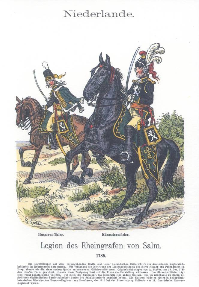 Band XVII #10.- Niederlande. Legion des Rheingrafen von Salm 1785.
