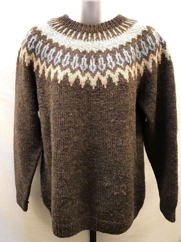 Vintage Wool Fair Isle Sweater Nordic Ski Jumper Scandinavian Classic Women S M Fair Isle Sweater Sweaters Vintage Wool