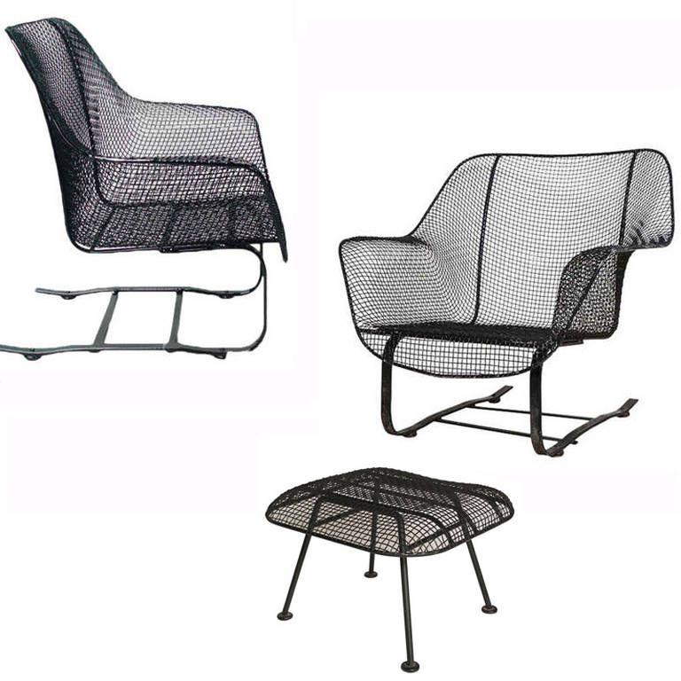 Pair Of Russell Woodard Quot Sculptura Quot Spring Rocker Chairs W