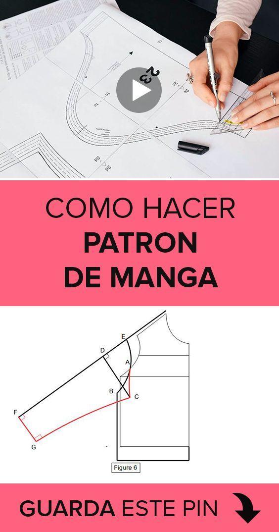 Como hacer patron de manga