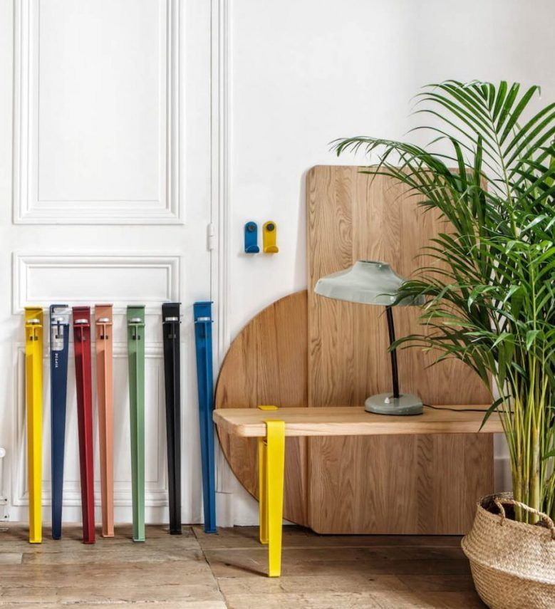 Astuces Pied Tiptoe Coloré Table Banc Appartement Style Parisien   Blog Déco    Clem Around The