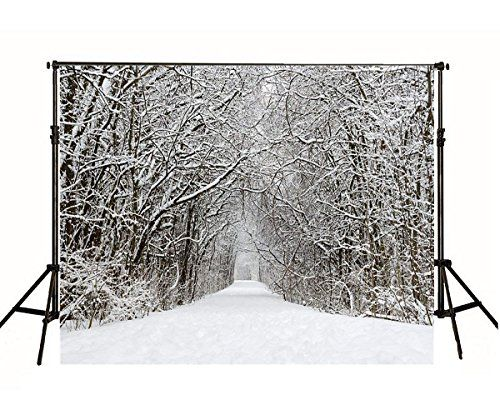 7x7FT Vinyl Photo Backdrops,Winter,Snow Cat Coffee Donuts Photo Background for Photo Booth Studio Props