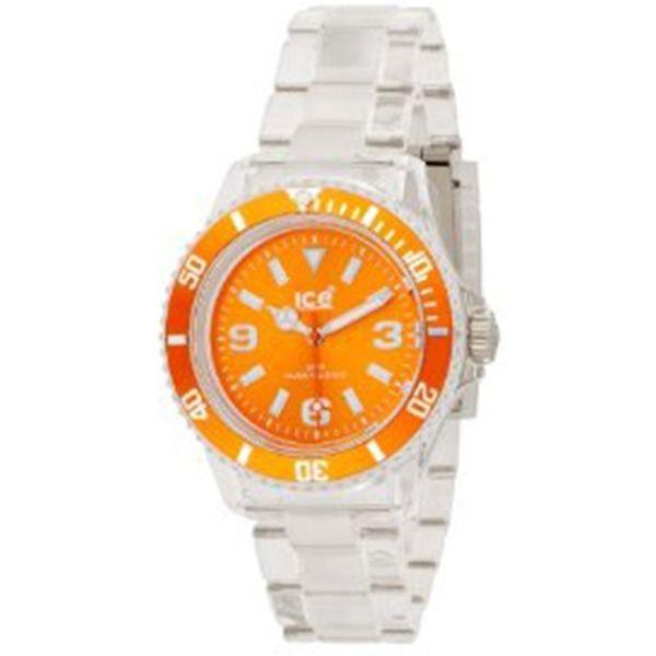 Ice-Watch Unisex CLASSIC CL.OE.U.P.09 White Plastic Quartz Watch with Orange Dial