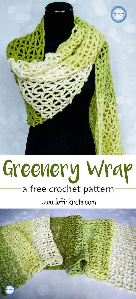 Greenery Wrap | Modern crochet patterns, Modern crochet and Spring time