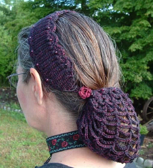 renaissance crochet patterns | ... Pattern Book » Crochet Hair Bun Covers and Snoods – free patterns