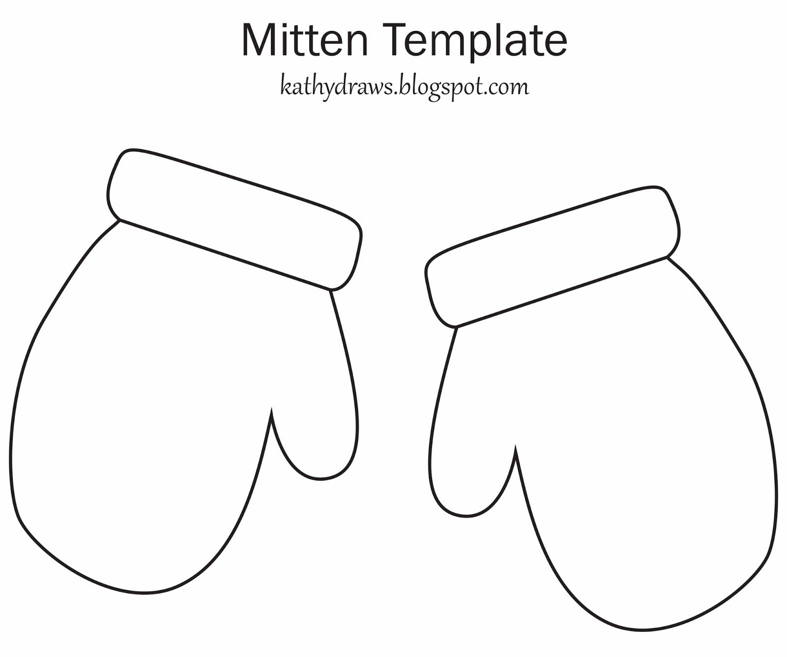 Mitten Template For Writing Images