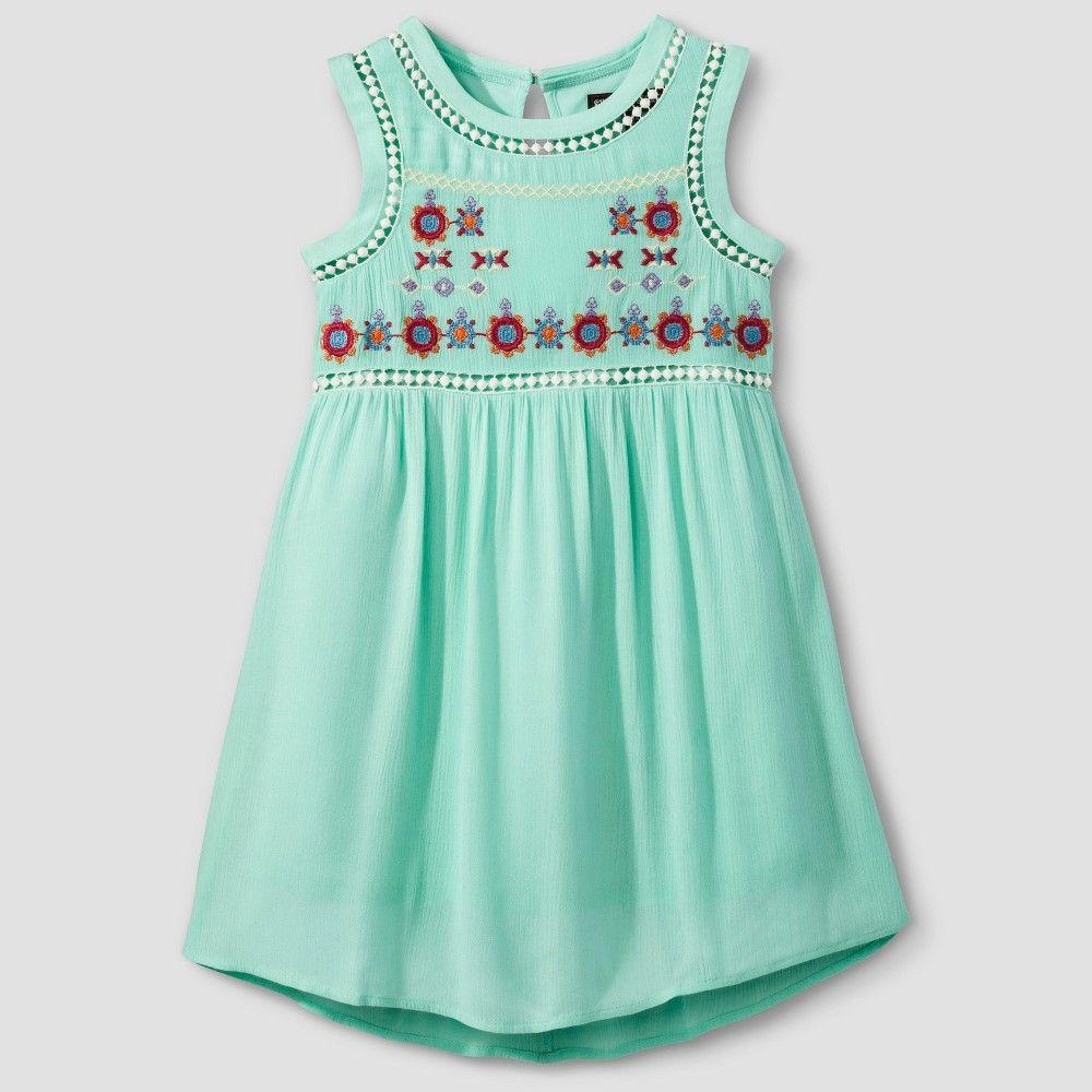 55c6527fbd Girls  Stella   Sienna Embroidered Top A Line Dress - Mint Green 12 ...