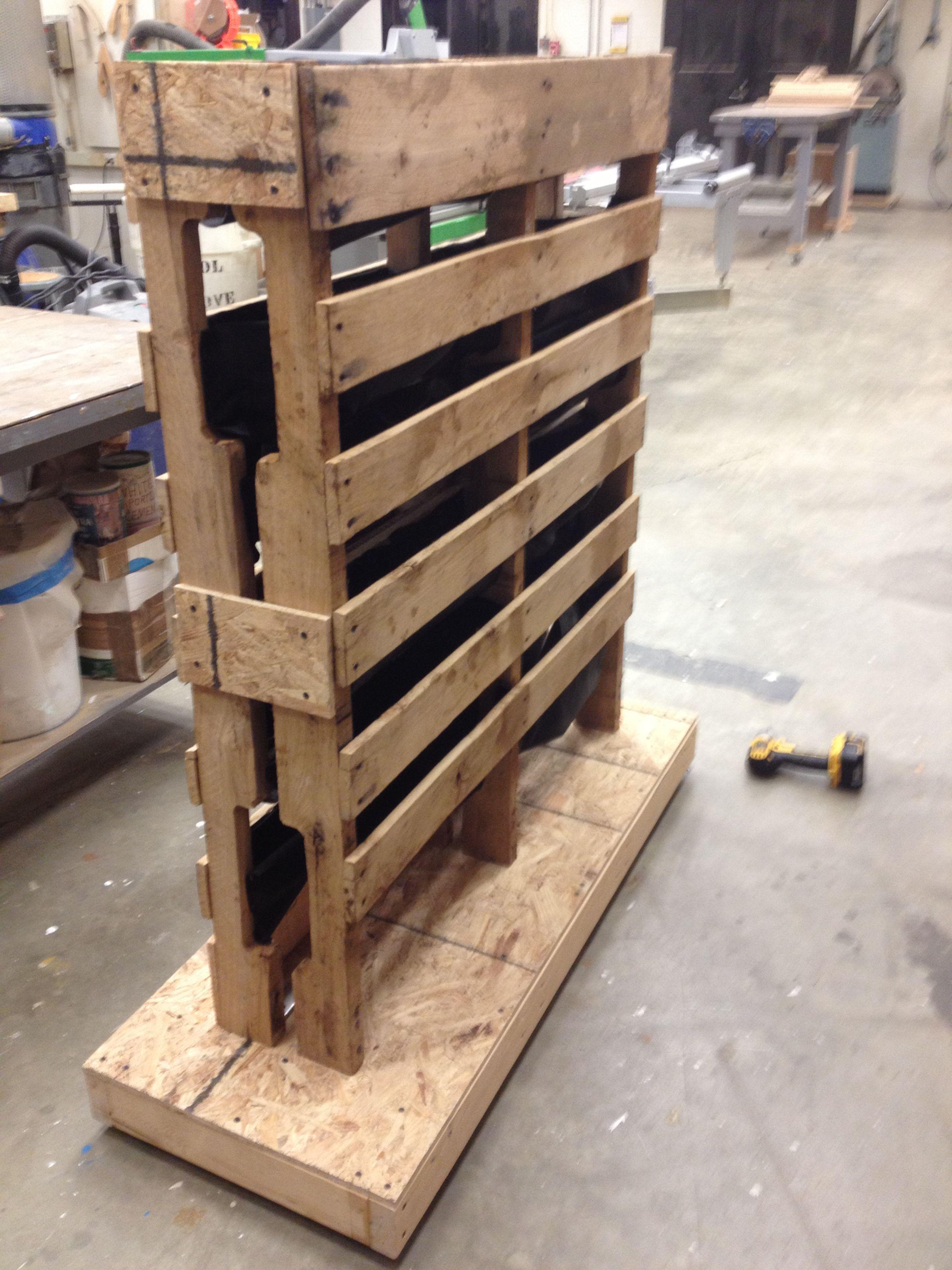 Freestanding Vertical Garden Display Pallet Walls