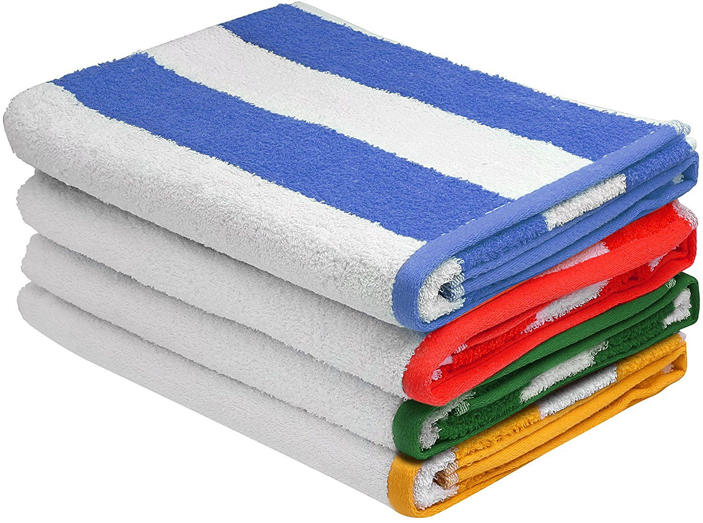 Mom Deal Premium Quality Cabana Beach Towels Pack Of 4 29 99