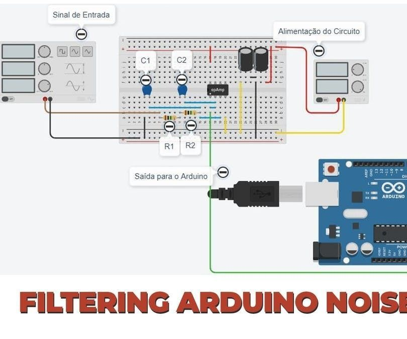 Active Low Pass Filter Rc Applied In Projects With Arduino Arduino How To Apply Electronic Filters