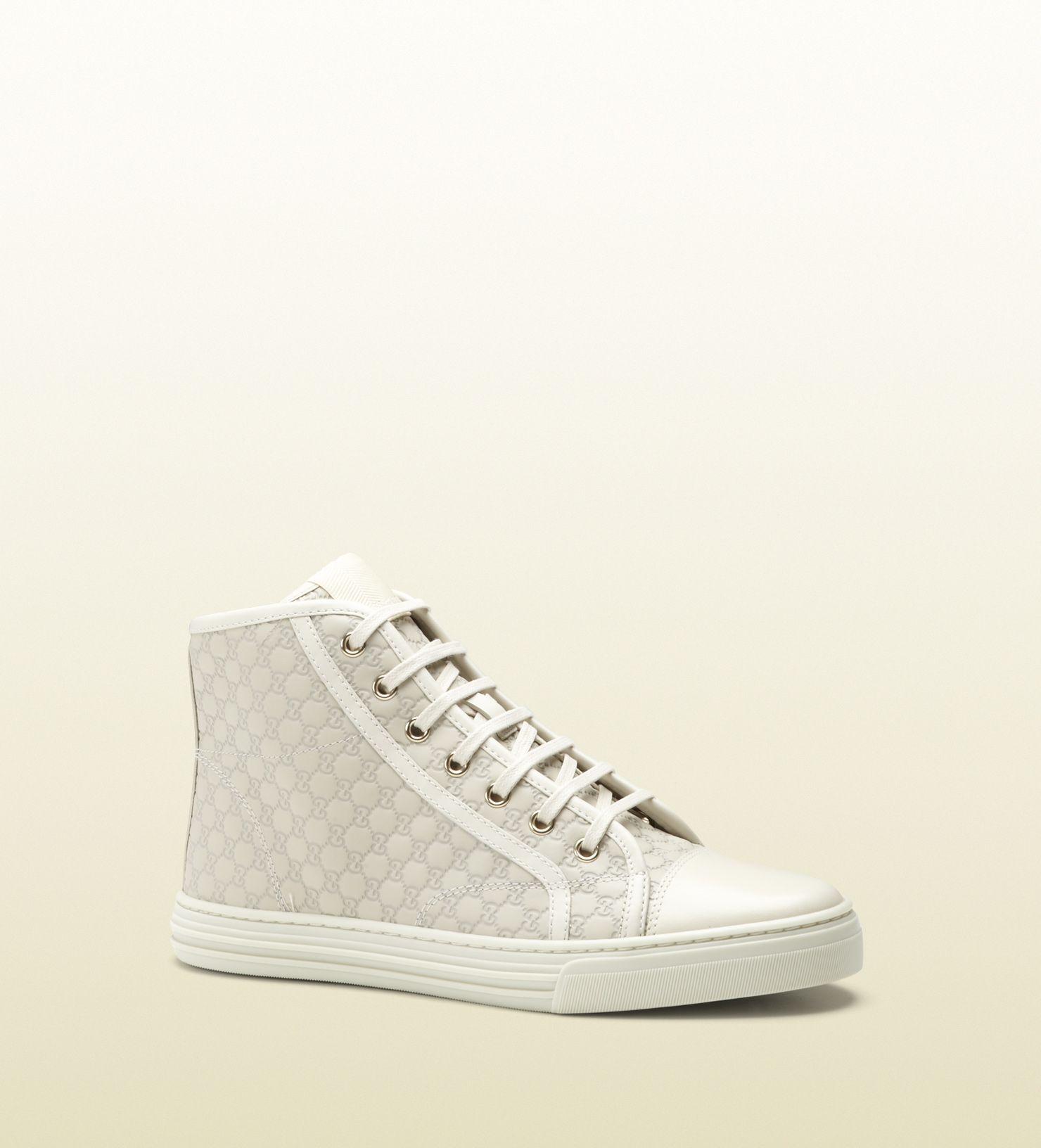 Gucci Hoher Sportlicher Schnurschuh California 435 Schuhe Frauen Schnurschuhe High Top Sneakers