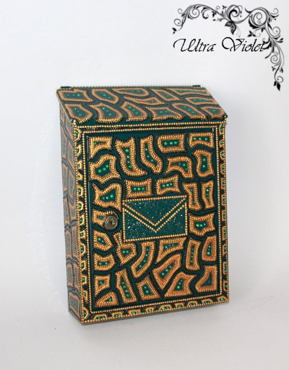 Mailbox, letterbox, postbox, mail,letter-box, Hand painted Paintings